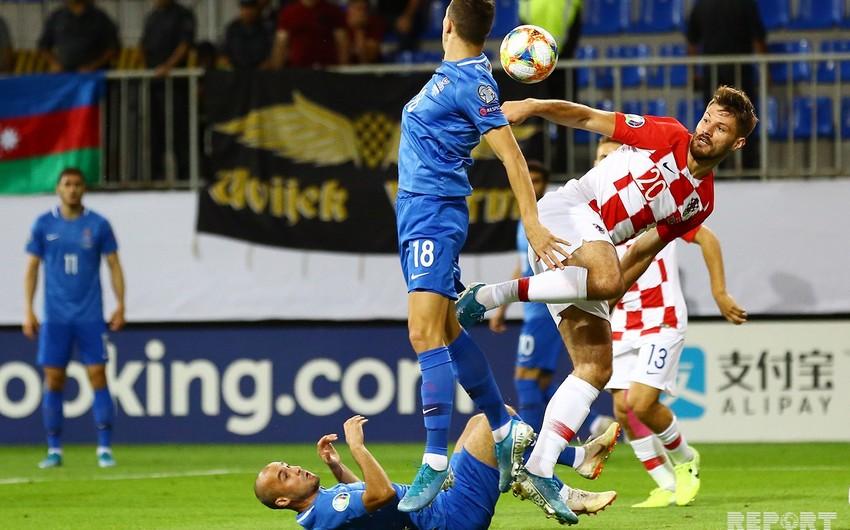 Сборная Азербайджана сыграла в ничью с Хорватией