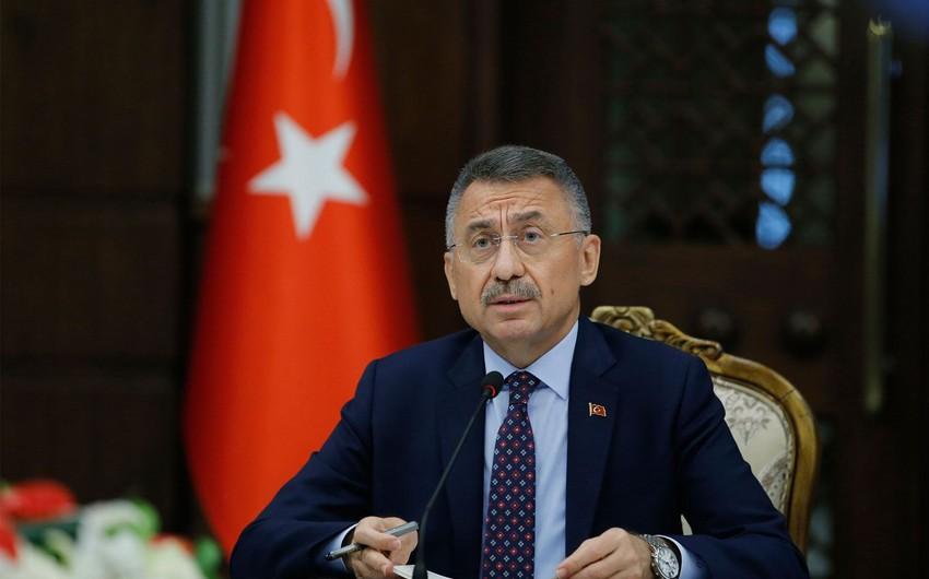 """Fuat Oktay: """"G-20-də ən böyük ikinci iqtisadi böyümə Türkiyədədir"""""""