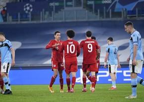 Çempionlar Liqası: Bavariyanın futbolçuları yeni rekordlara imza atdı