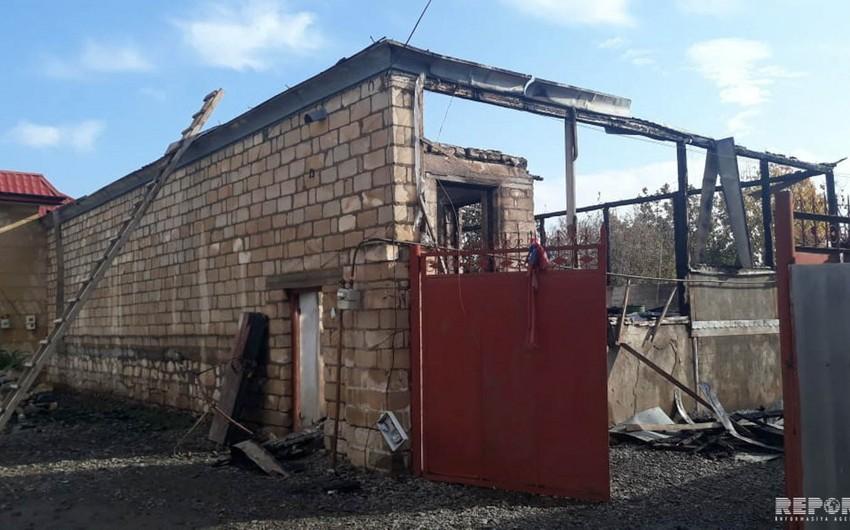 Tovuzda yaşayış evi yanıb, xəsarət alan var - FOTO