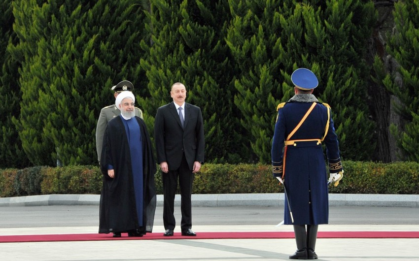 Состоялась церемония официальной встречи президента Ирана Хасана Роухани