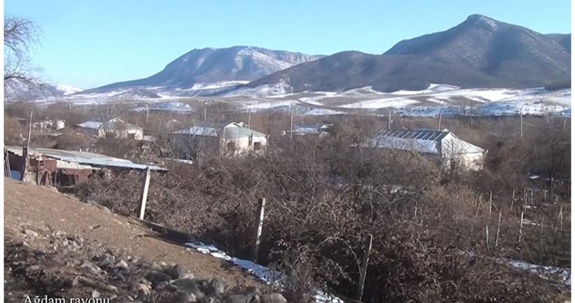 Видеокадры из села Сырхавенд Агдамского района