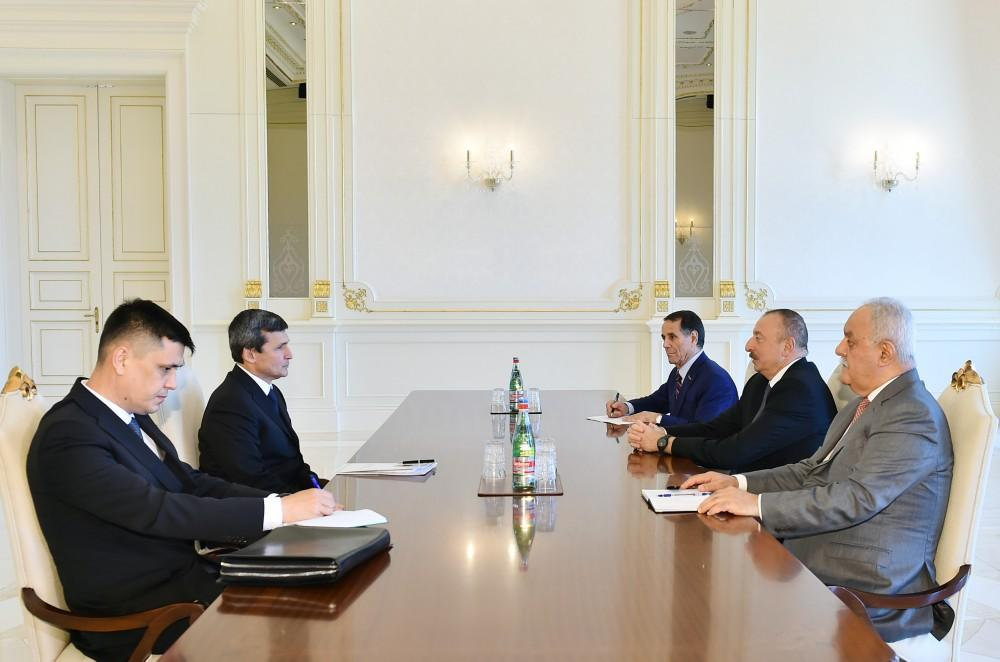 President Ilham Aliyev received Deputy Chairman of Cabinet of Ministers of Turkmenistan