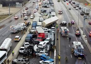 ABŞ-da 133 avtomobil toqquşub, 65 nəfər xəsarət alıb, 9 nəfər ölüb - YENİLƏNİB