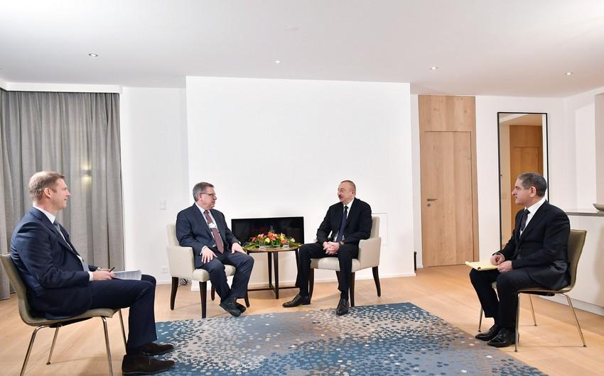"""Azərbaycan Prezidentinin """"The Boston Consulting Group"""" şirkətinin prezidenti ilə görüşü olub"""