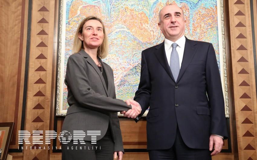 Глава МИД Азербайджана обсудил с Верховным представителем ЕС вопросы сотрудничества и нагорно-карабахского урегулирования