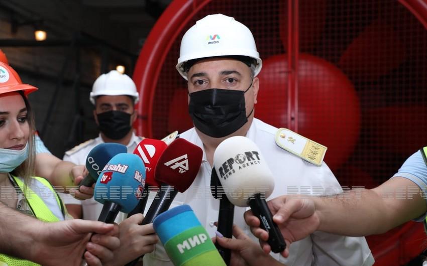Bakı Metropoliteni 10 yeni güclü ventilyator istifadəyə verib