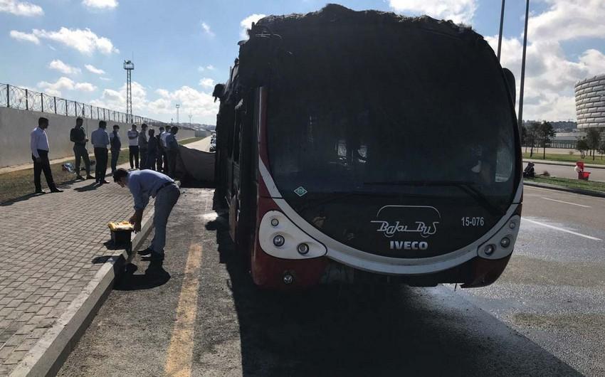 Бакинское транспортное агентство о сгоревшем пассажирском автобусе