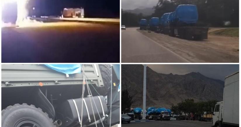 İrandan Ermənistana silah daşınmasını əks etdirən görüntülər yayılıb
