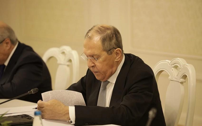 Sergey Lavrov: ABŞ-la müxtəlif səviyyələrdə təmaslar davam edir