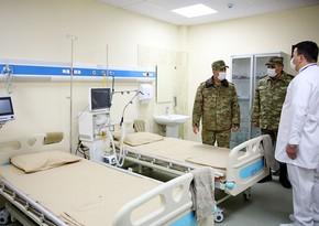 Hərbi hospitalın yoluxucu xəstəliklər bölməsinin açılışı olub