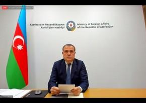 Ceyhun Bayramov ATƏT-in Nazirlər Şurasının iclasında çıxış edib