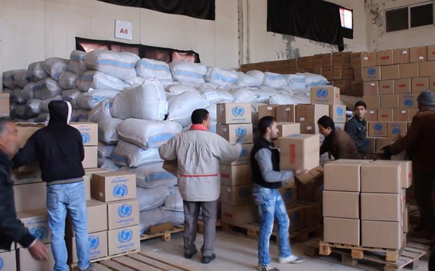 BMT Suriyanın mühasirədə olan Maday şəhərinə ilk dəfə humanitar yardım çatdıra bilib