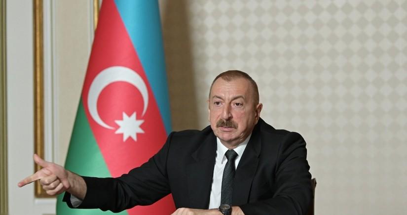 Dövlət başçısı: Onlar Türkiyəyə və Azərbaycana qarşı tarixi nifrət aşılayırlar