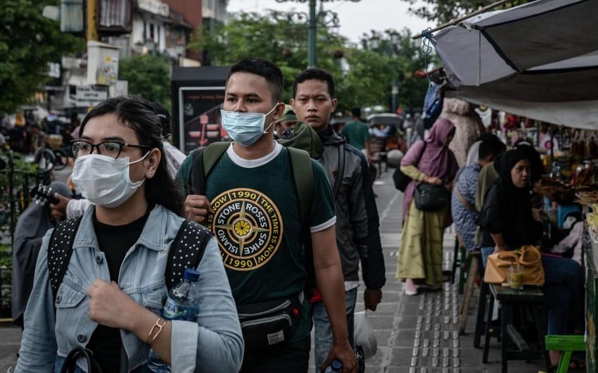 İndoneziyada koronavirusa yoluxanların sayı 20 mini ötdü