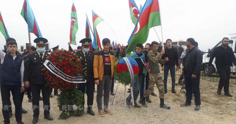 Azərbaycan Ordusunun şəhid hərbçisi dəfn olunub
