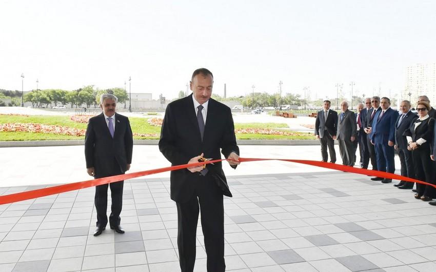 Президент Азербайджана принял участие с открытии нового административного здания Государственной нефтяной компании