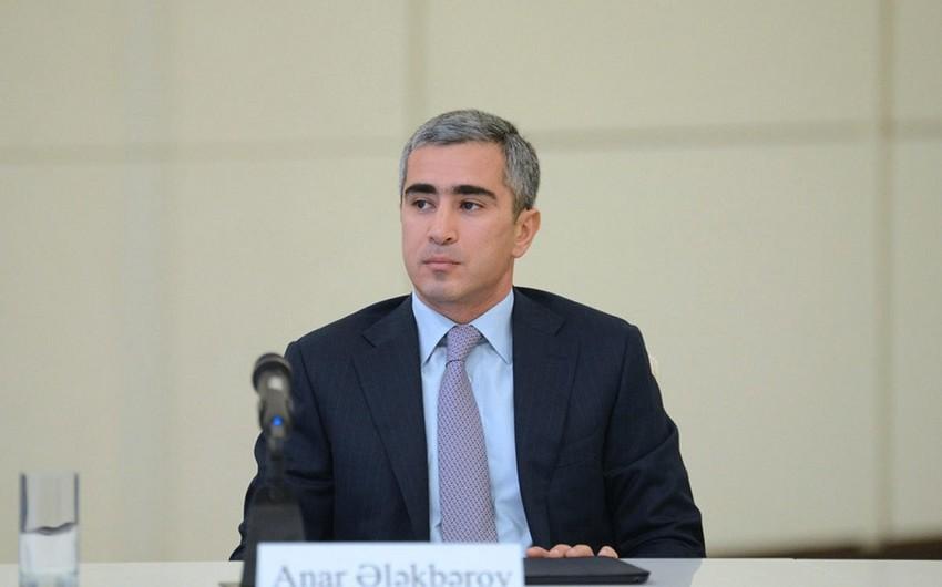 Anar Ələkbərov Azərbaycan Respublikası Prezidentinin köməkçisi təyin edilib