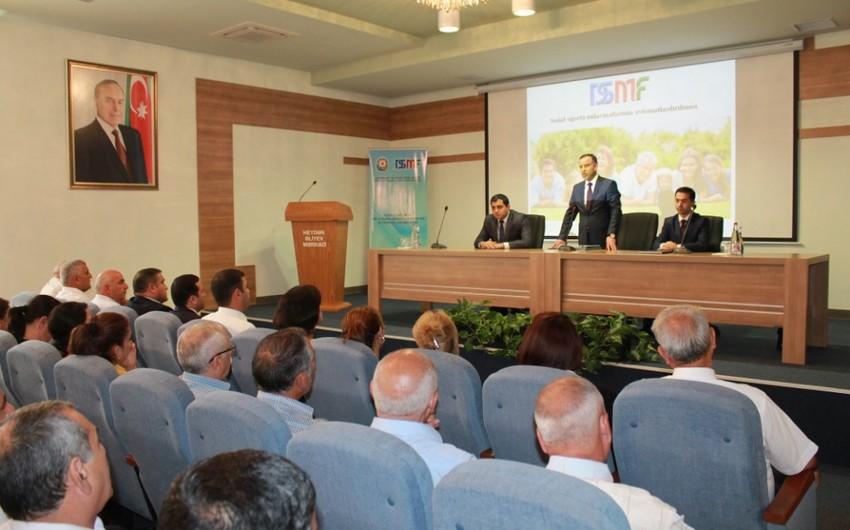 """DSMF Biləsuvarda regional """"Açıq qapı günü"""" - vətəndaş forumu keçirib"""
