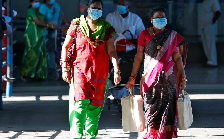 Hindistanda son sutkada 240 nəfər koronavirusa yoluxdu