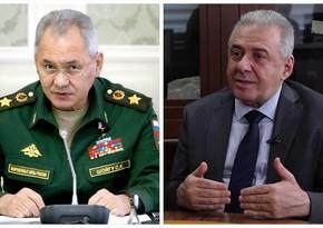 Главы Минобороны России и Армении провели телефонный разговор