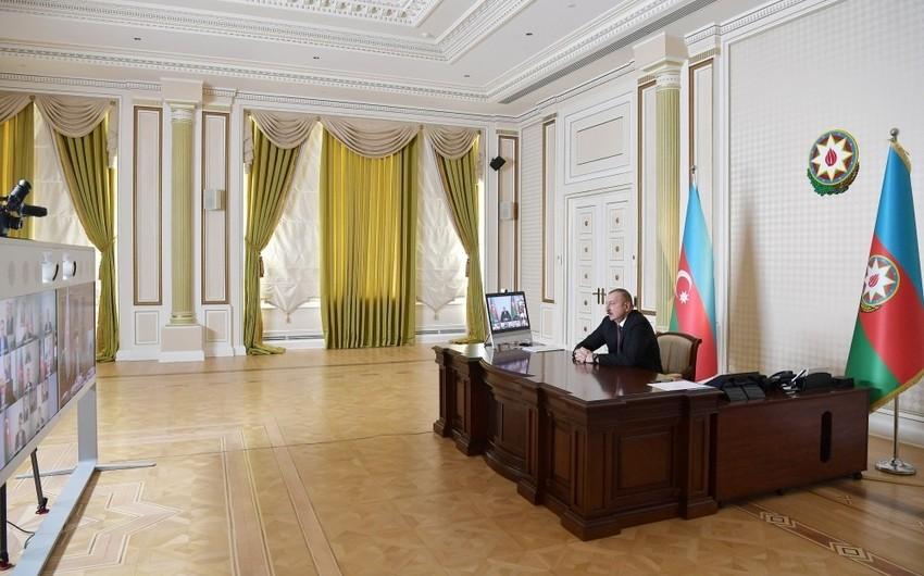 Под председательством президента состоялось совещание в формате видеоконференции - ОБНОВЛЕНО