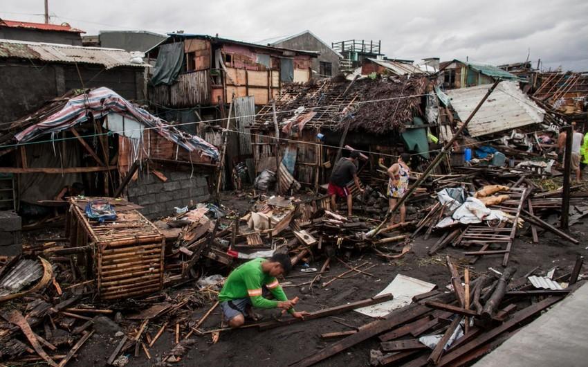 Filippində Konson qasırğası qurbanlarının sayı 17 nəfərə çatıb