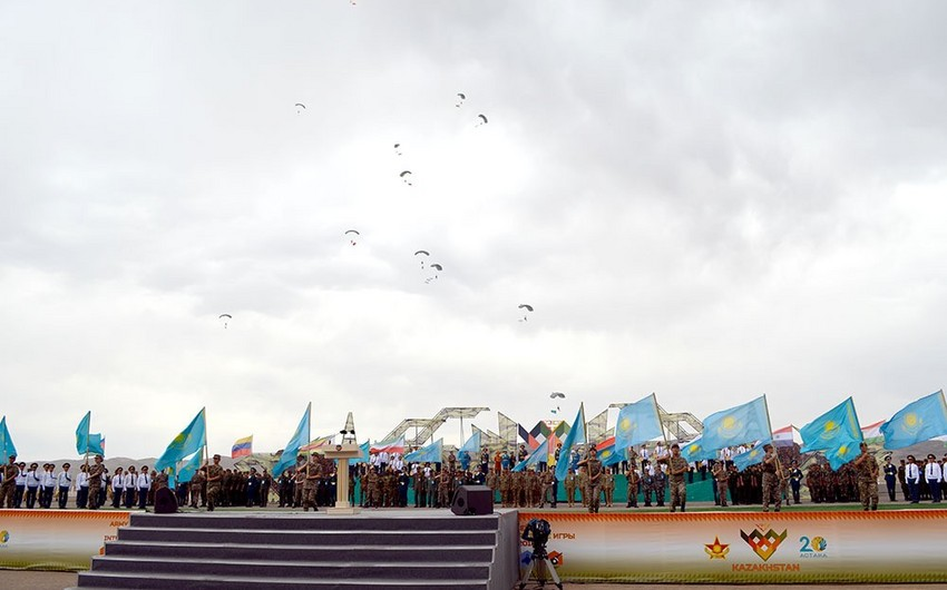 Azerbaijani servicemen took part in the opening ceremony of the Masters of artillery fire contest  VIDEO