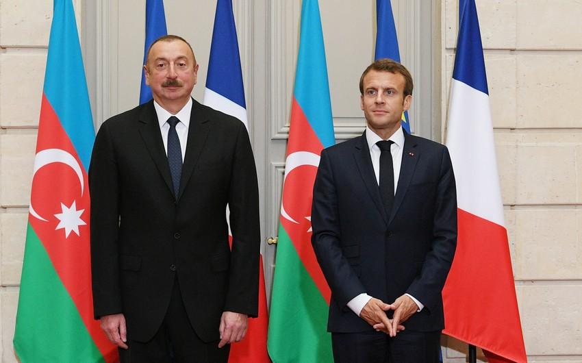 ЭммануэльМакрон направил письмо президенту Азербайджана