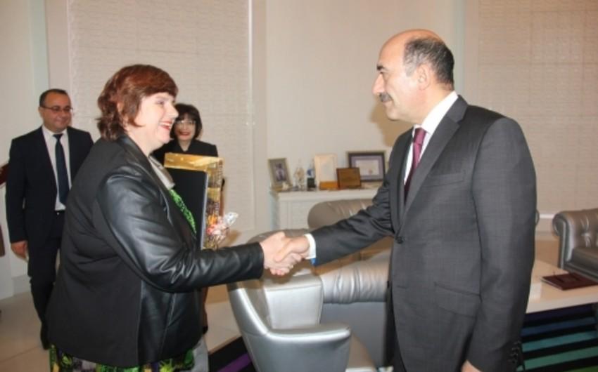 Əbülfəs Qarayev Luvr Muzeyinin İslam Departamentinin direktoru ilə görüşüb