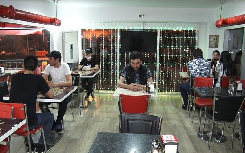 Bakıda restoranların axşam fəaliyyəti - VİDEOREPORTAJ