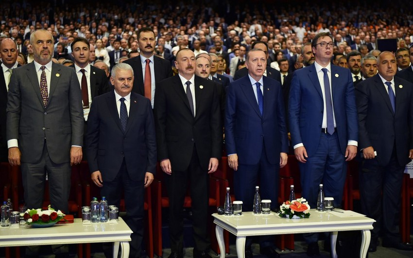 President Ilham Aliyev attends presidential ceremony at the 22nd World Petroleum Congress