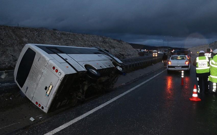 В Турции потерпел аварию автобус, перевозивший болельщиков Бешикташа