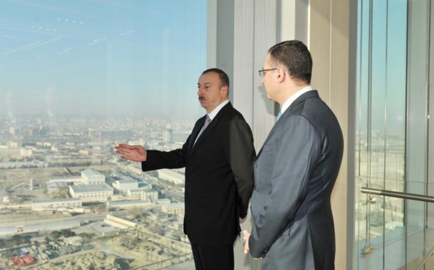 Azərbaycan Prezidenti Dövlət Neft Fondunun yeni inzibati binasının açılışında iştirak edib