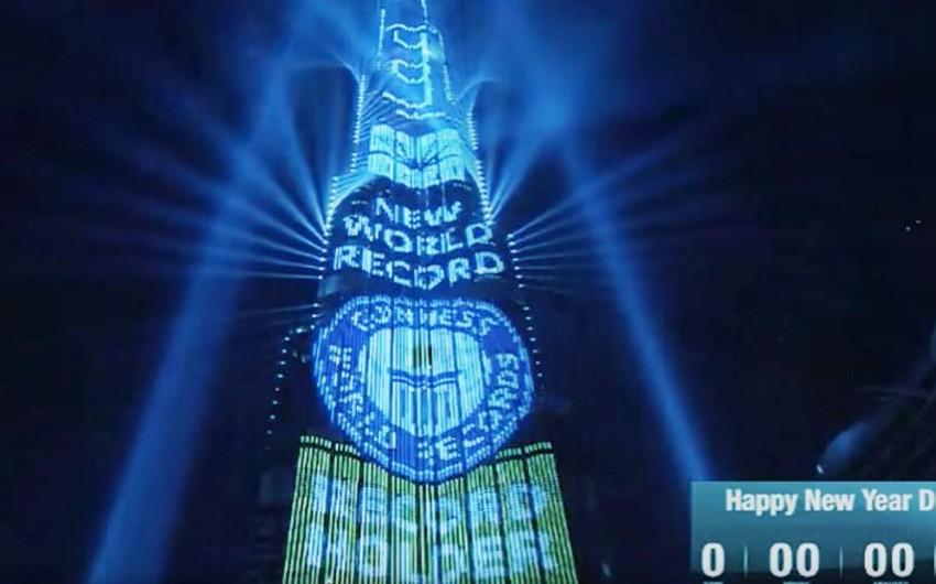 Dubayda ən böyük lazer şousu üzrə rekord müəyyən edilib - VİDEO