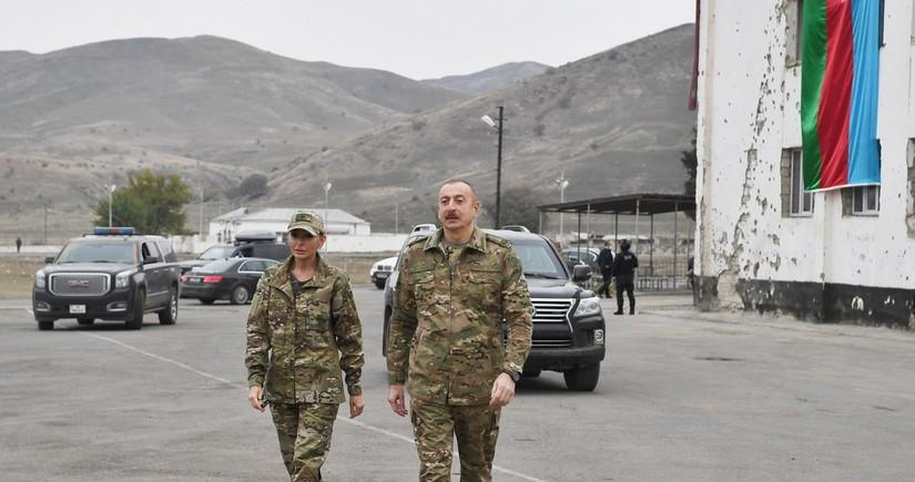 Ильхам Алиев и Мехрибан Алиева посетили Агдам