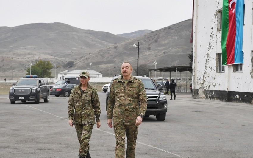 İlham Əliyev və Mehriban Əliyeva Ağdam şəhərinə gedib
