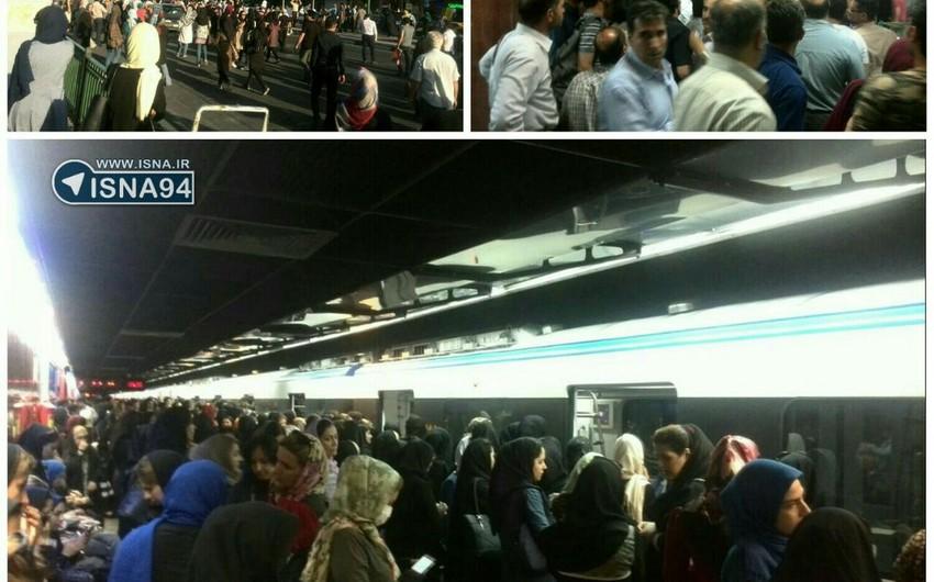 Tehran metrosunda iki qatarın toqquşması nəticəsində 50-dək insan yaralanıb - FOTO