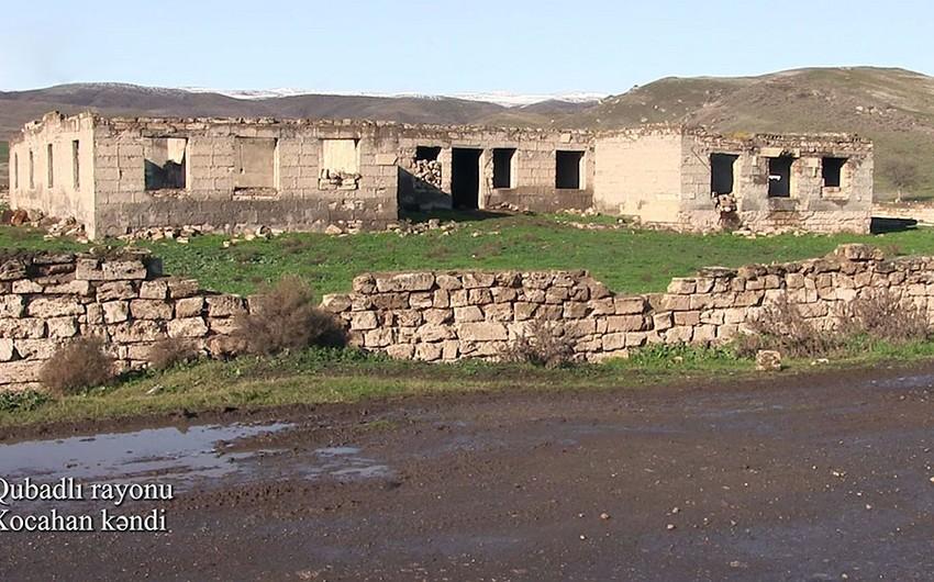 Qubadlı rayonunun Xocahan kəndindən videogörüntülər