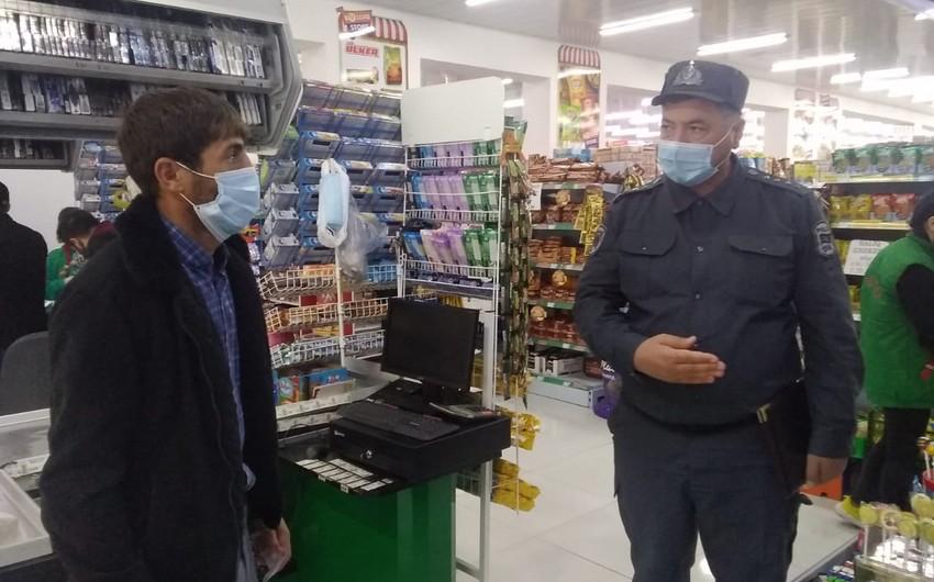 В Исмаиллы полиция контролирует соблюдение правил карантина