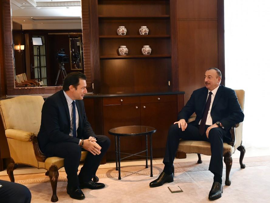 Президент Ильхам Алиев встретился в Берлине с исполнительным вице-президентом компании Airbus Group