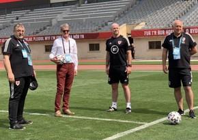 British ambassador visits Welsh national team in Baku
