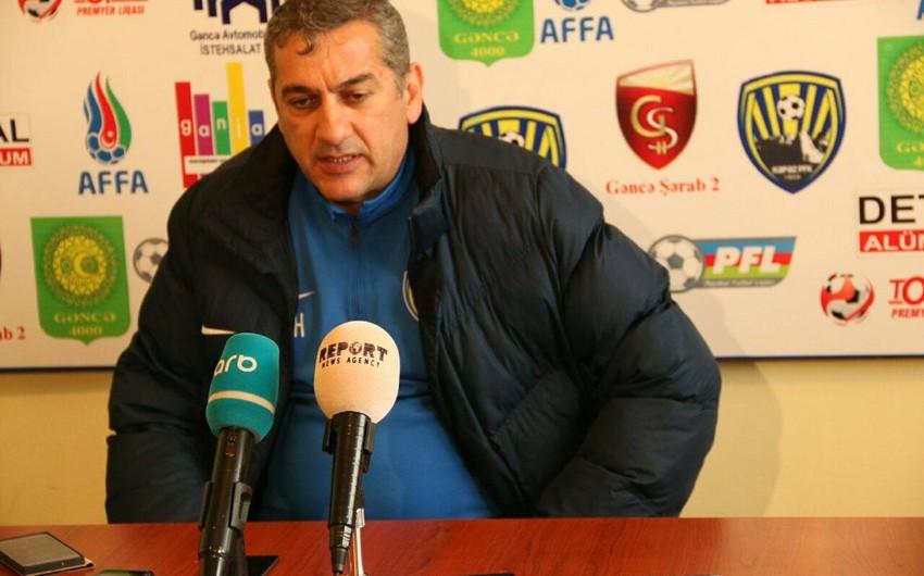 """Yunis Hüseynov: Əfsuslar olsun ki, yenə 0:1 hesabı ilə məğlub olduq"""""""