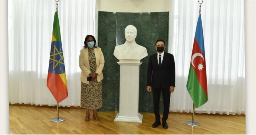 Mədət Quliyev Efiopiyanın müdafiə nazirinin müavini ilə görüşüb