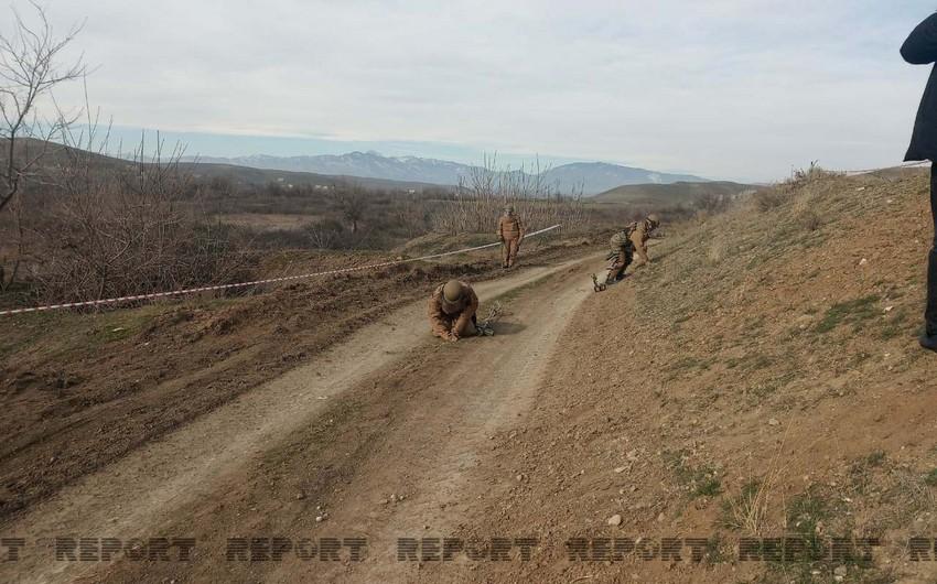 Füzulidən Şuşaya çəkilən yolun 6-7 km-lik hissəsi minalardan təmizlənib