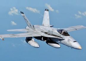В Калифорнии упал истребитель ВМС США