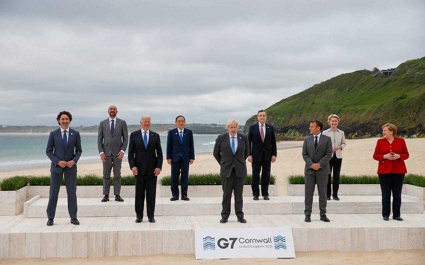 G7 liderləri Çinə uyğur türkləri və COVID-19-la bağlı çağırış etdilər