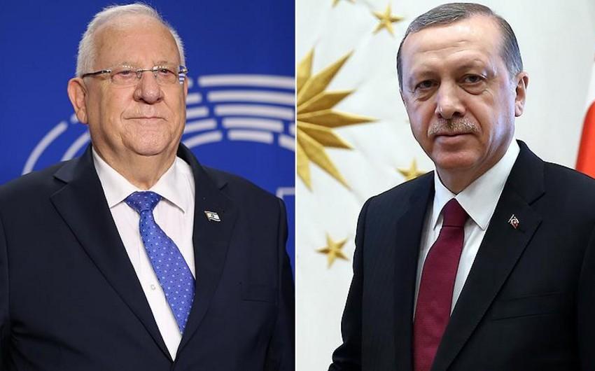 İsrail və Türkiyə prezidentləri arasında telefon danışığı olub