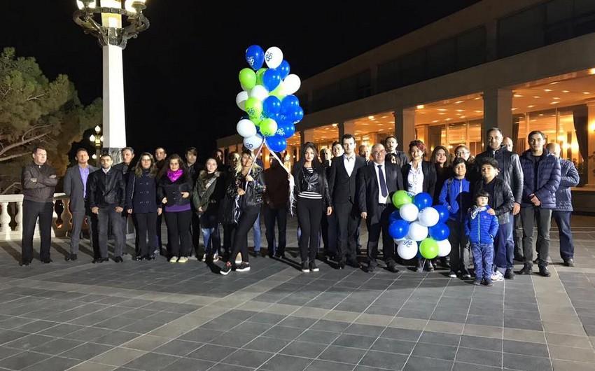 """""""MİR"""" Dövlətlərarası Teleradio Şirkətinin 25 illiyi ilə əlaqədar atəşfəşanlıq keçirilib"""