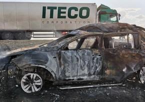 Rusiyada dörd nəfər avtomobildə yanaraq ölüb